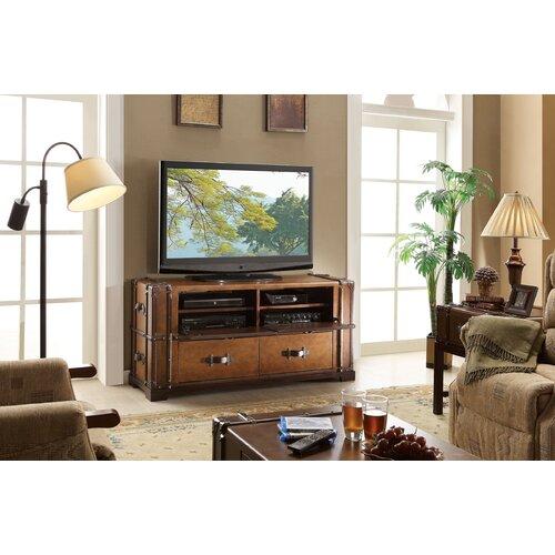 "Riverside Furniture Latitudes Steamer Trunk 58"" TV Stand"