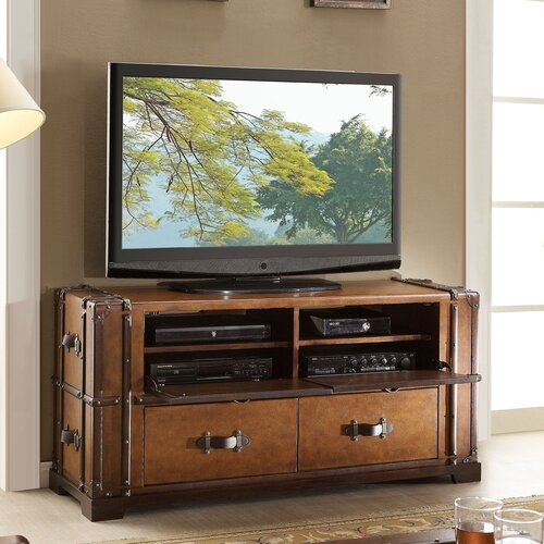 "Riverside Furniture Latitudes Steamer Trunk 58"" TV Stand"