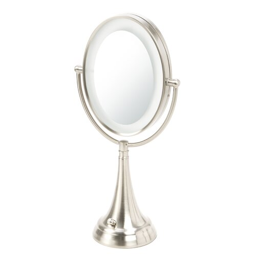 Vanity Lights For Oval Mirror : Zadro Oval Vanity Mirror with LED Surround Light & Reviews Wayfair Supply