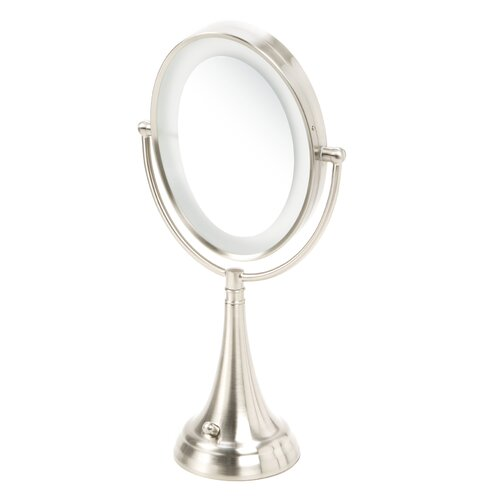 Vanity Light Above Oval Mirror : Zadro Oval Vanity Mirror with LED Surround Light & Reviews Wayfair