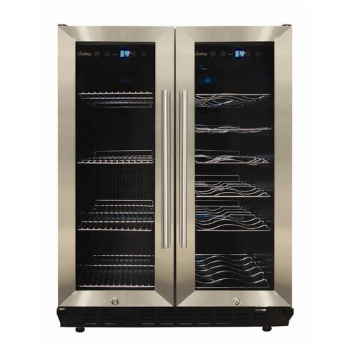 Vinotemp VT-36 Wine and Beverage Cooler in Silver