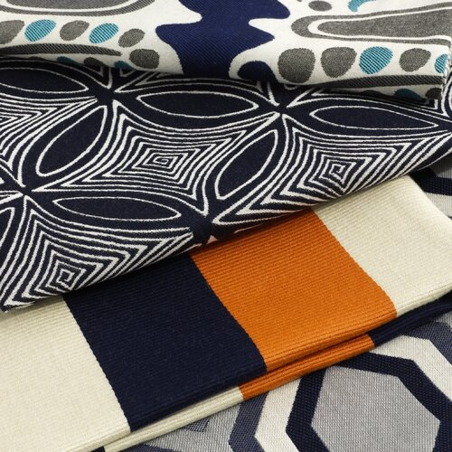 DwellStudio Diamond Vista Fabric - Navy