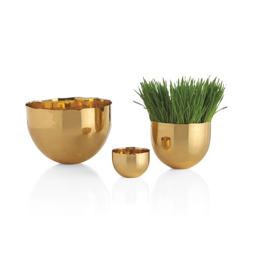 DwellStudio Brass Bowls (Set of 3)