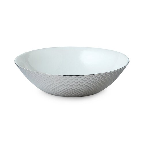 DwellStudio Diamond Cut Silver Bowl