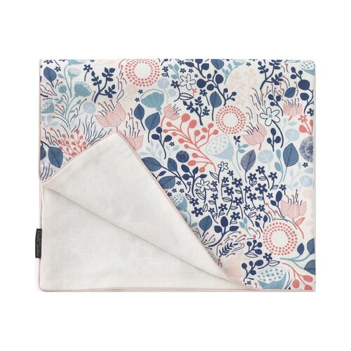 DwellStudio Meadow Powder Blue Velour Stroller Blanket