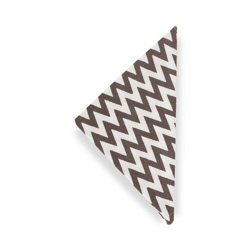 DwellStudio Chevron Charcoal  Napkin (Set of 4)