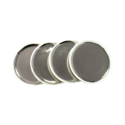 DwellStudio Marais Platinum Tidbit Plates (Set of 4)