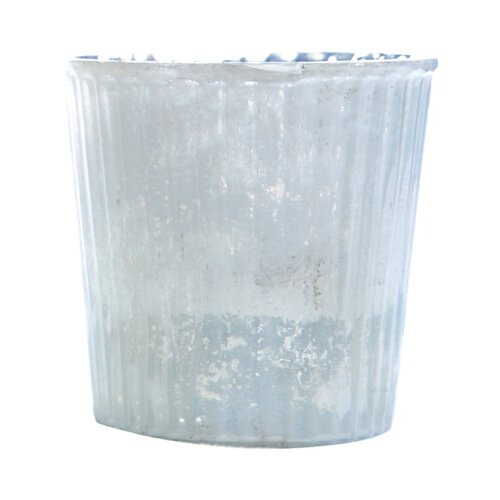 DwellStudio Striped Smoked Small Glass Votive