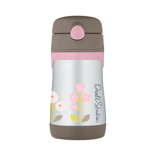 DwellStudio Rosette 10 oz Vacuum Insulated Straw Bottle