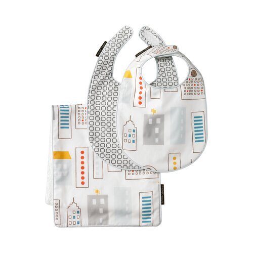 DwellStudio Skyline Bib & Burp Set