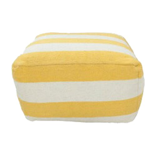 DwellStudio Stripe Lemon Pouf