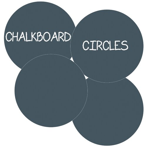 DwellStudio Chalkboard Circle Wall Decal (Set of 4)