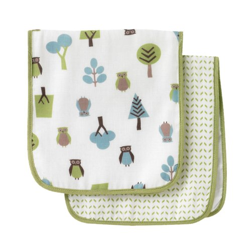 DwellStudio Owls Multi Burp Cloth (Set of 2)