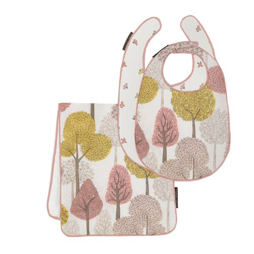 DwellStudio Treetops Bib & Burp Set