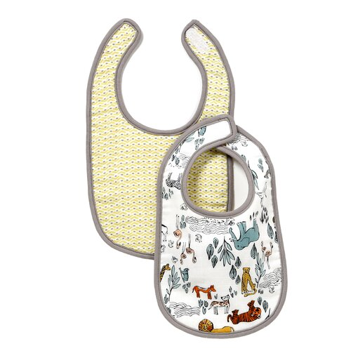DwellStudio Safari Muslin Bib (Set of 2)