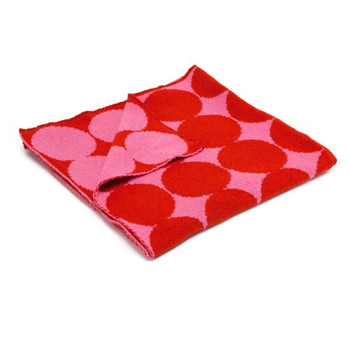 DwellStudio Graphic Dot Spice & Orchid Blanket