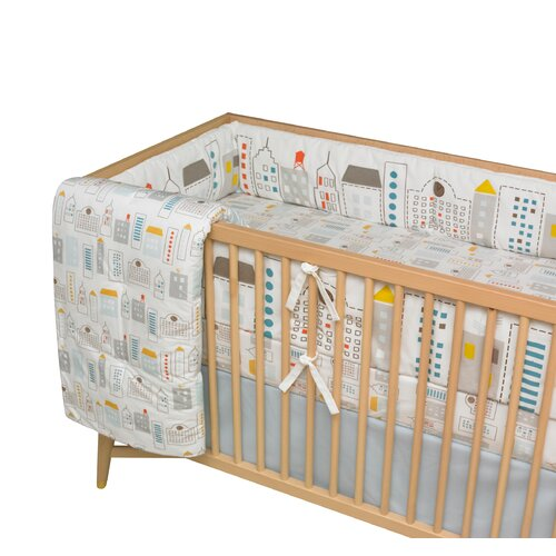 DwellStudio Skyline Fitted Crib Sheet