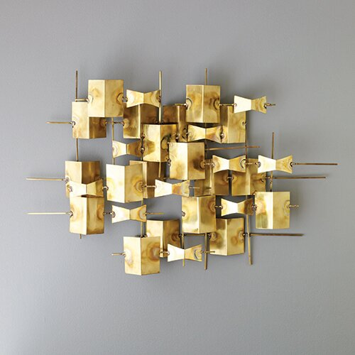 DwellStudio Folded Brass Wall Décor