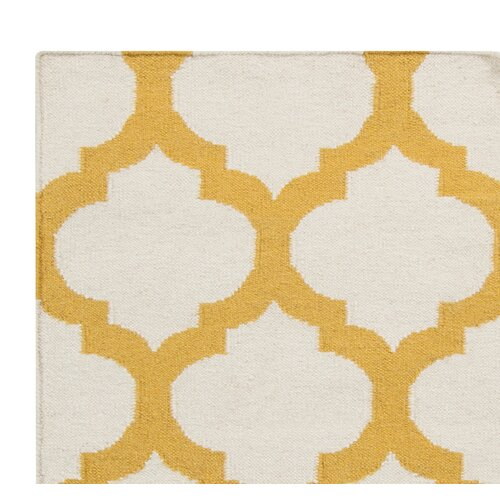 DwellStudio Modern Trellis Maize Rug