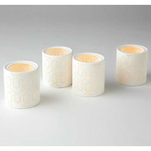 DwellStudio Dotted Trellis Votives Set (Set of 4)