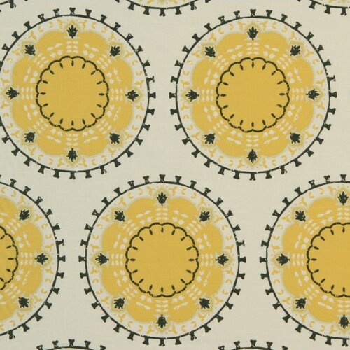 DwellStudio Medallion Band Fabric - Citrine