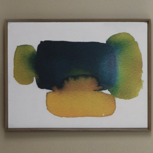 DwellStudio Citrine Green Watercolor Artwork