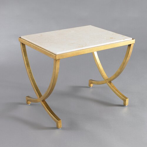 DwellStudio Haviland Modern Side Table Antique Gold