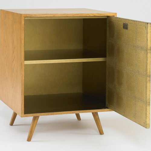 DwellStudio Franklin Side Cabinet in Gold Leaf