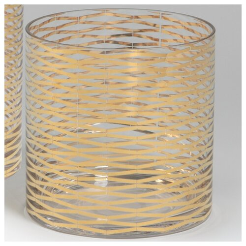 DwellStudio Gold Ribbons Glass Vase