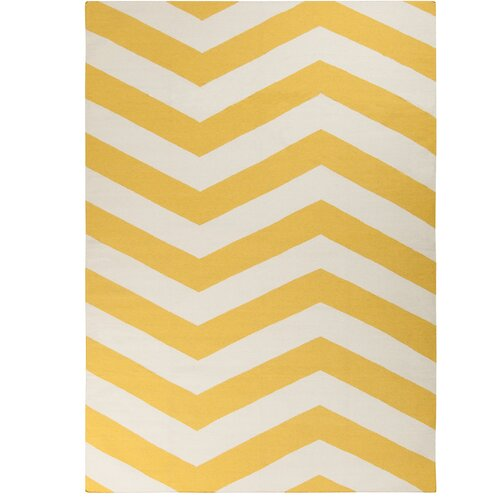 dwellstudio zig zag yellow rug dwellstudio