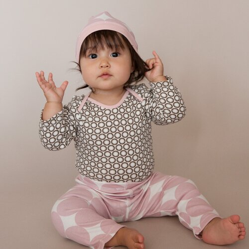 DwellStudio Starburst Chocolate L/S Bodysuit 0-3 Mo.