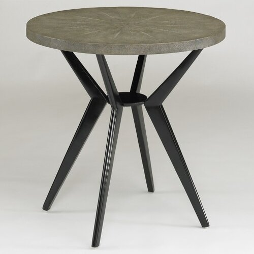 DwellStudio Odin Side Table in Grey Shagreen