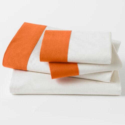 DwellStudio Modern Border Tangerine Sheet Set