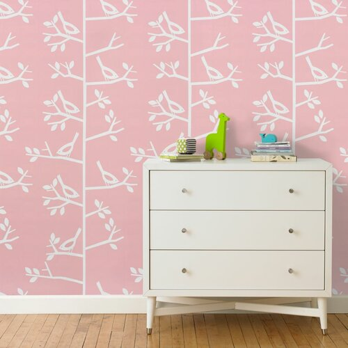 DwellStudio Sparrow Petal Wallpaper