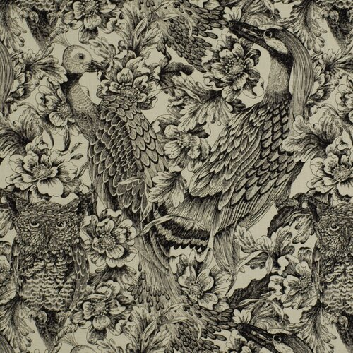 DwellStudio Etched Aviary Fabric - Jet