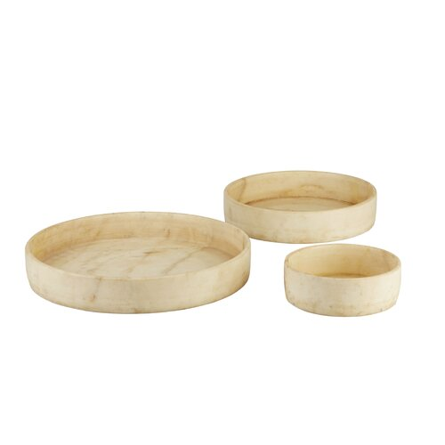 DwellStudio Tavertine Bowls (Set of 3)