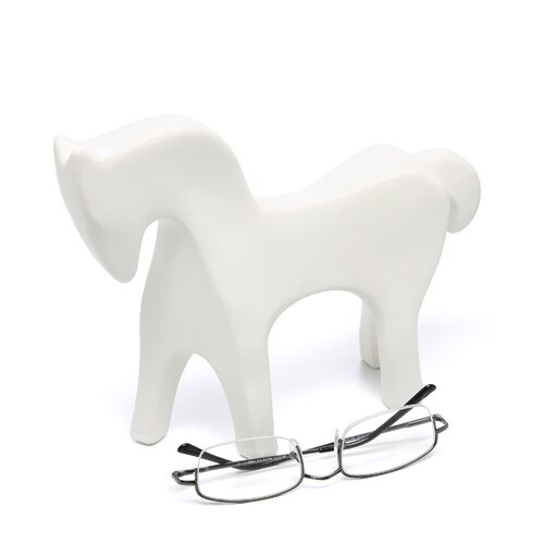 DwellStudio Horse Objet in White