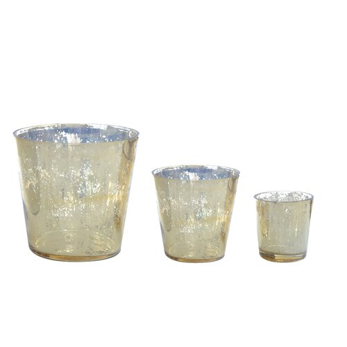 DwellStudio Gold Glass Votive