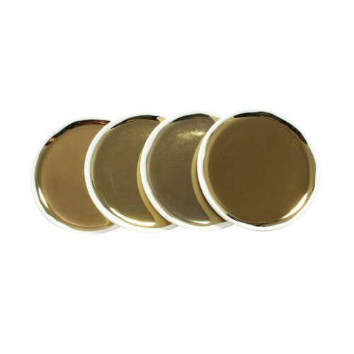 DwellStudio Marais Tidbit Plates in Gold (Set of 4)