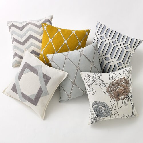 DwellStudio Zig Zag Mist Pillow