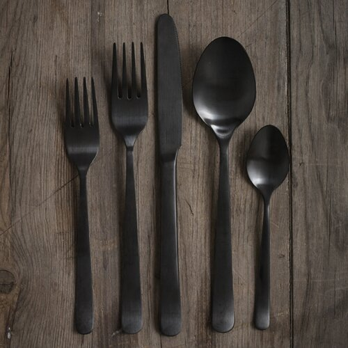 5 Piece Onyx Black Cutlery Set Wayfair