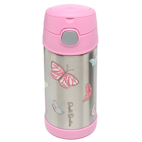 DwellStudio Butterfly 12 oz Funtainer Straw Bottle