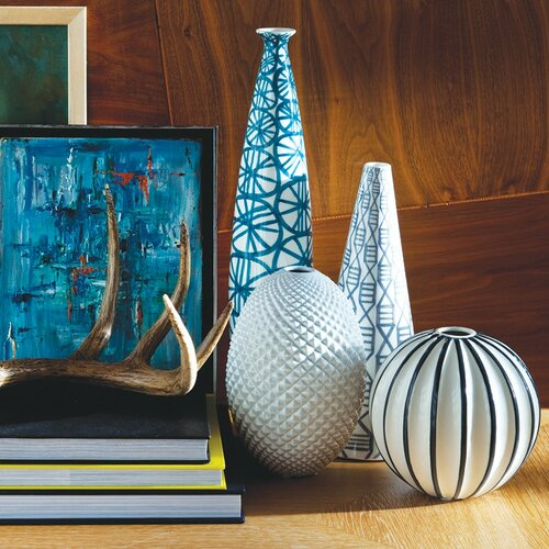 DwellStudio Diamond Cut Egg Vase