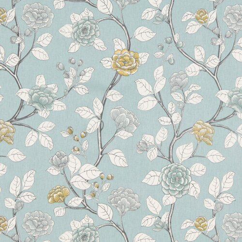DwellStudio Leda Peony Fabric - Aquatint