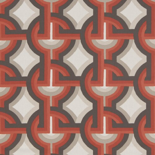 DwellStudio Futura Fabric - Persimmon
