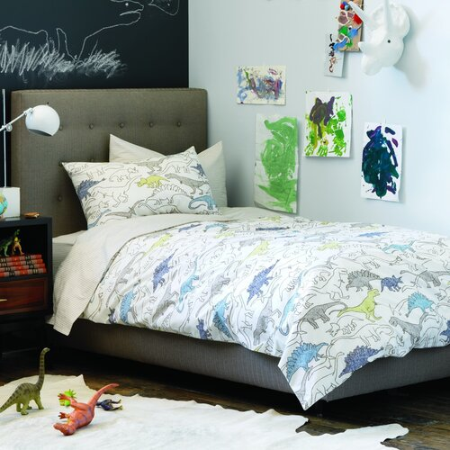 DwellStudio Dinosaurs Multi Single Standard Sham