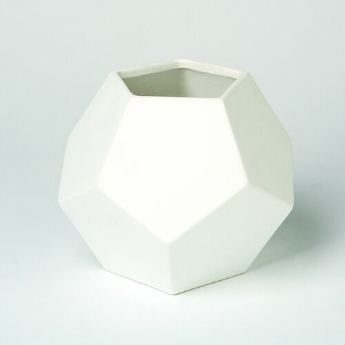 DwellStudio Faceted White Vase