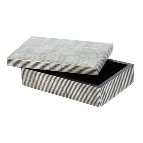 DwellStudio Pin Stripe Bone Box