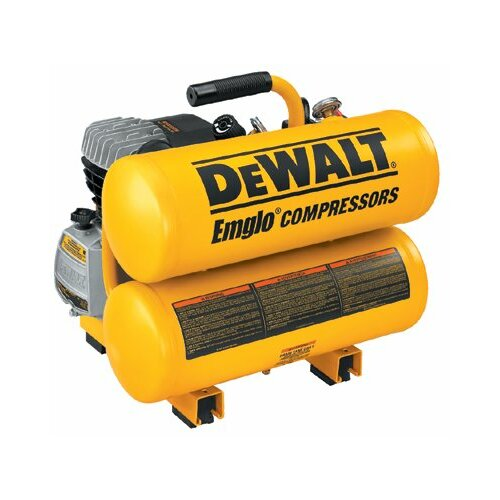 DeWalt Hand Carry-Electric Compressors - 4 HP Electric 4 Gallon Twin Stack Air Compress