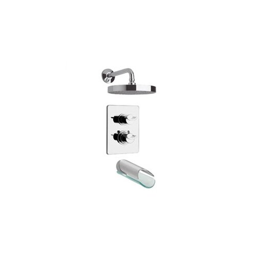 LaToscana Morgana Thermostatic Two Handle Tub and Shower Faucet Set